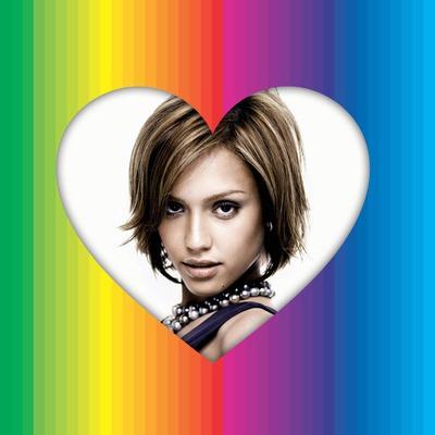Multi-couleurs Coeur