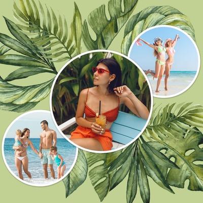 Tropische collage