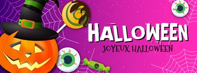 Halloween Facebook cover with personal text