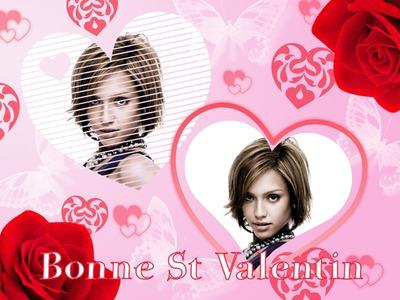 2 corazones ♥ Tarjeta de felicidades San Valentín