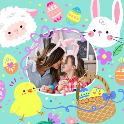 Mutlu Paskalya Çocukları