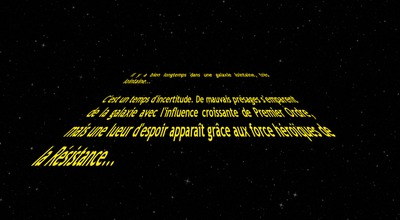Text pananaw style Star Wars Star Wars Nako-customize na