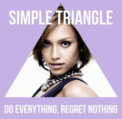Triangle avec textes