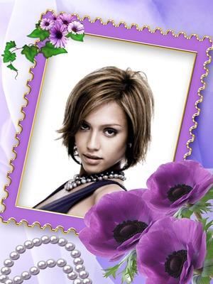Fleurs violettes Perles