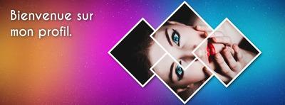Facebook dækker stiliserede diamanter og farverig gradient