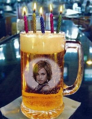 Świeczki urodzinowe kufel piwa