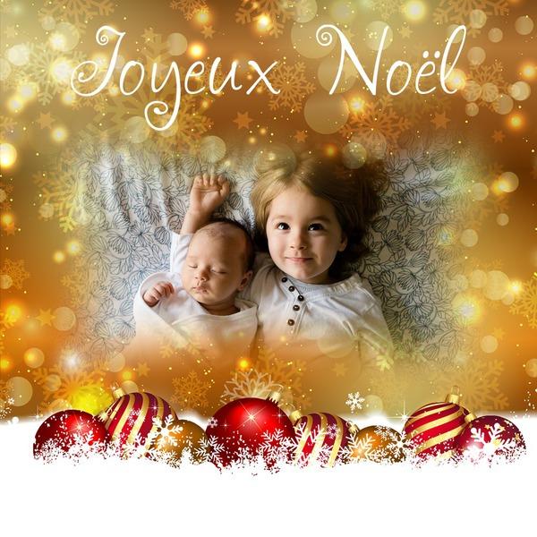 foto de Montage photo Joyeux Noël avec texte Pixiz