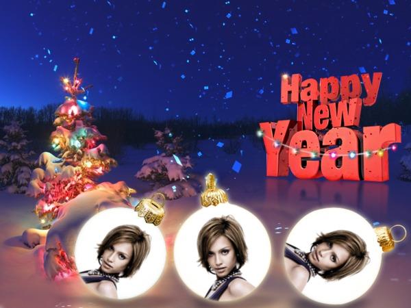 Photo montage happy new year new year pixiz