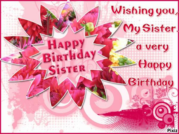 Photo montage happy birthday sister pixiz m4hsunfo