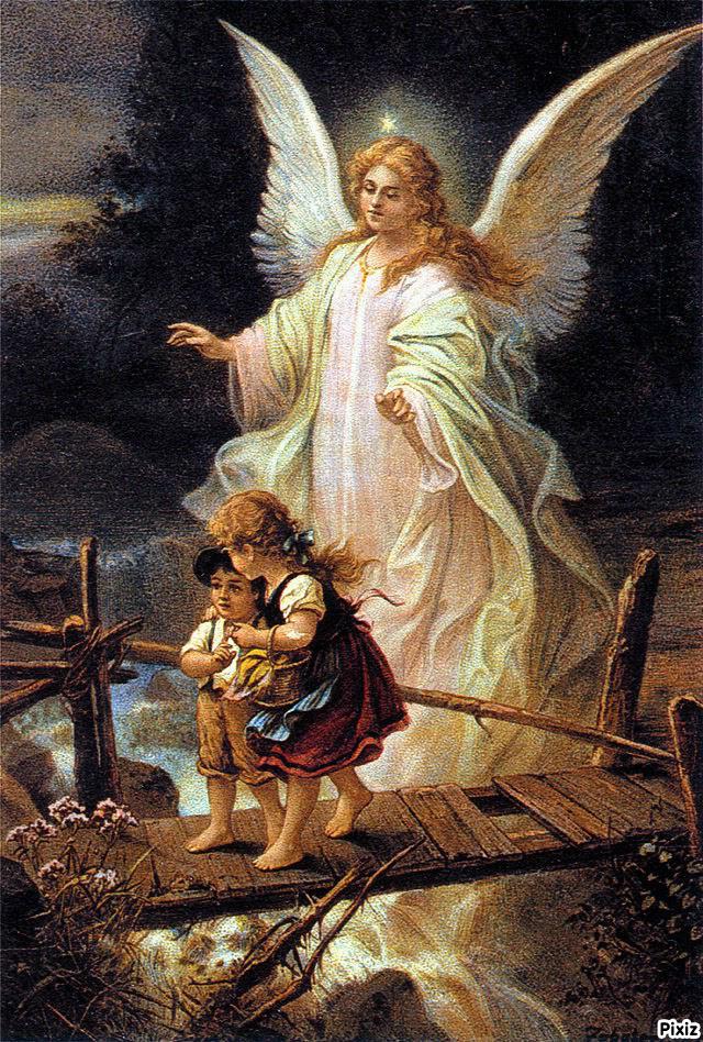 Montaje fotografico angel de la guarda - Pixiz
