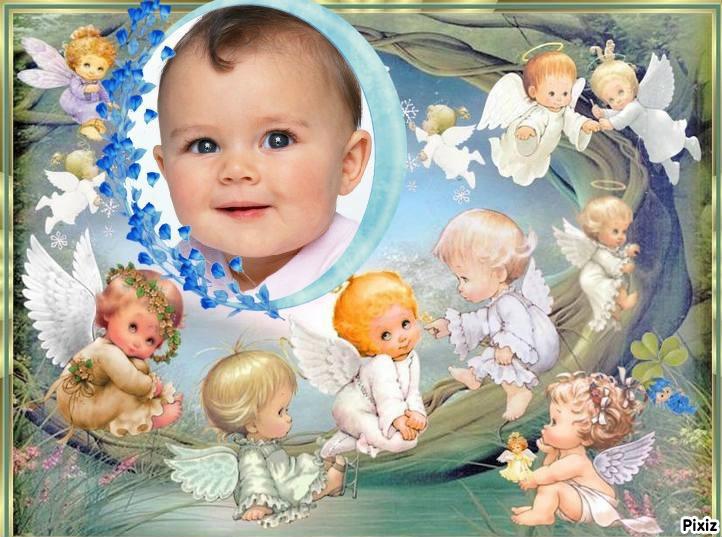 Montaje fotografico Angeles para Bebes - Pixiz