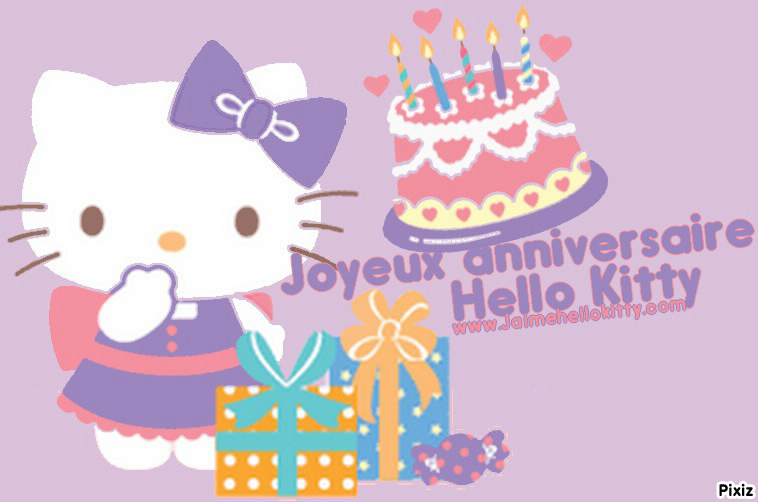 photo montage bon anniversaire hello kitty pixiz - Hello Kitty Anniversaire