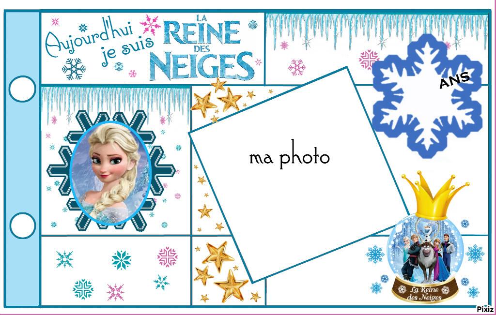 Gut bekannt Montage photo Carte Anniversaire Elsa Reine des Neiges - Pixiz AK31