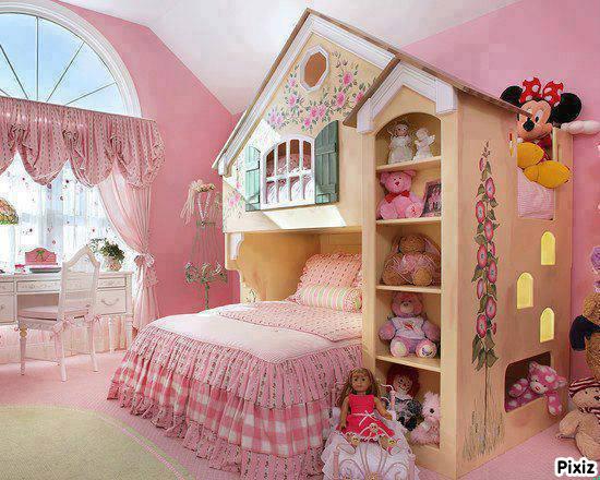 Photo montage chambre petite fille sage - Pixiz