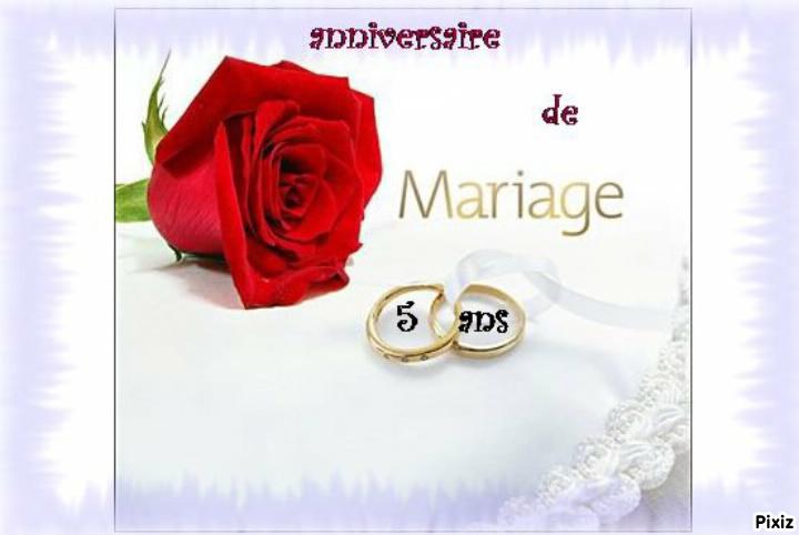 lettre anniversaire de mariage 5 ans