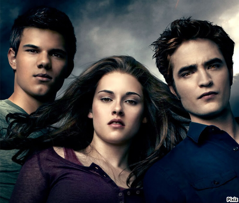 Fotomontage Twilight (Bella, Edward et jacob) - Pixiz