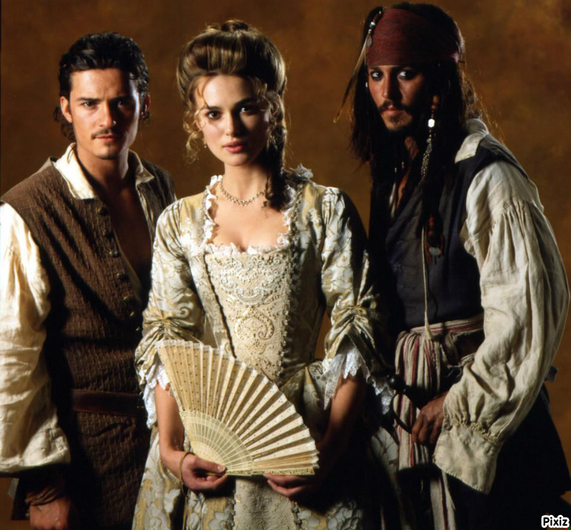 Fotomontage Jack Sparrow, Will Turner et Elizabeth Swann - Pixiz
