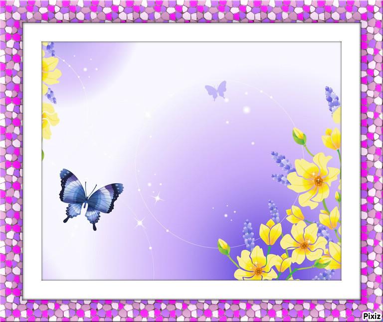Montaje fotografico flores y mariposas - Pixiz