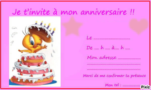 Populaire Photo montage Carte d'invitation anniversaire ado - Pixiz TZ71