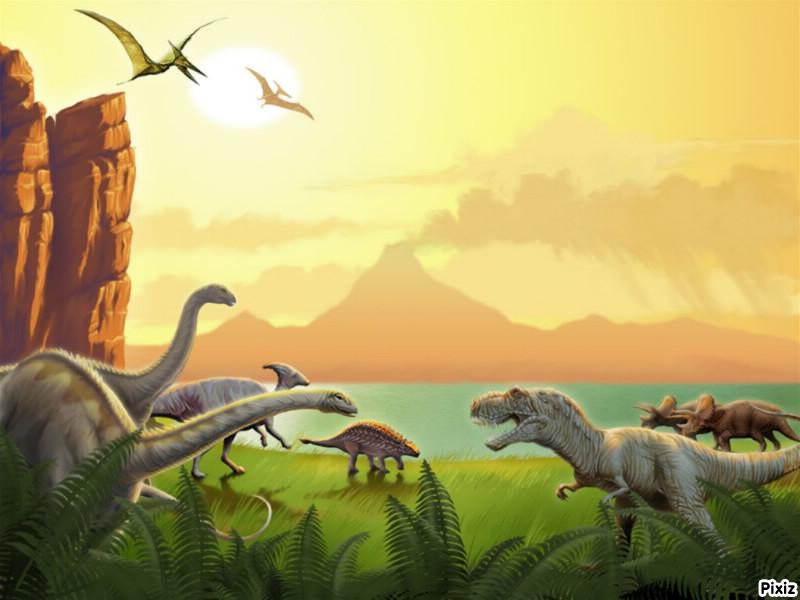 Montaje fotografico dinosaurios - Pixiz