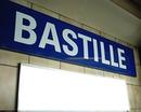 Panneau Station de Métro Bastille