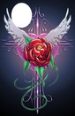 wings rose heart cross-hdh 1