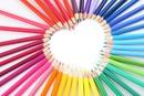 crayon de couleur 1 photo coeur