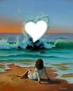 coeur dans l eau
