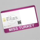 Miss Turkey Card