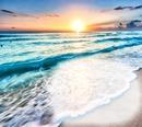 coucher du soleil sur mer