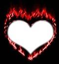 coeur a feu rouge