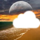 plage et la lune