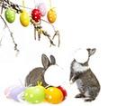 2 lapins de Pâques