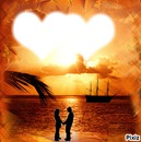 coucher de soleil romantique