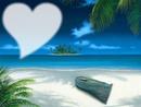 Magnifica cadre coeur plage.