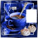 Cadre tasse bleue