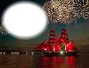 Bateau-voilier-feux d'artifices