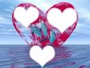 coeur avec trois dauphins