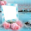 bleu ciel et rose rose