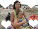ma maman et moi sur la plage