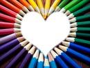 couleur en forme de coeur