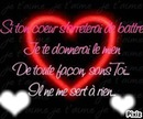 mon coeur ne bat ue pour toi !!! <3