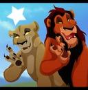 lion king Zira and Scar