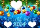 Meilleurs voeux 2014 coeurs