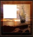cadre bateaux marron
