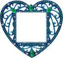 coeur bleuté