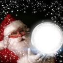 santa christmas ball