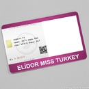 Elidor Miss Turkey Card
