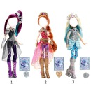 Raven Queen, Holly O'Hair, and Darling Charming (ever after high the dolls)