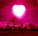 le ciel reose avec une petite lumiere rose en forme de coeur car c'est toi mon coeur